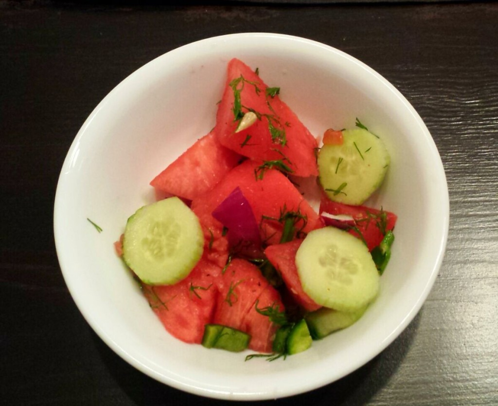 Sweet and Spicy Watermelon Salad