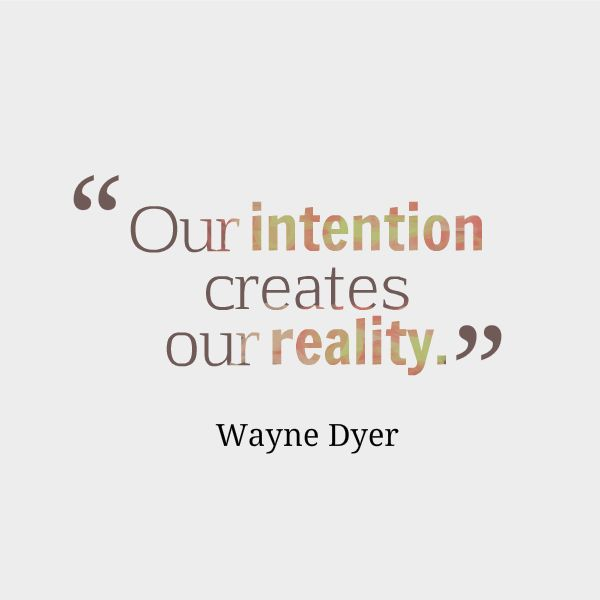 Intentions